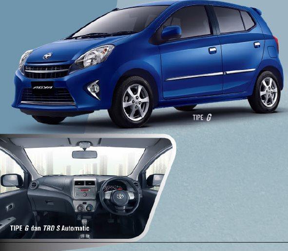 Spesifikasi Toyota Agya Tipe G 2015 Terbaru